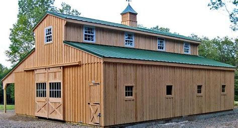 outdoor alluring pole barn  living quarters