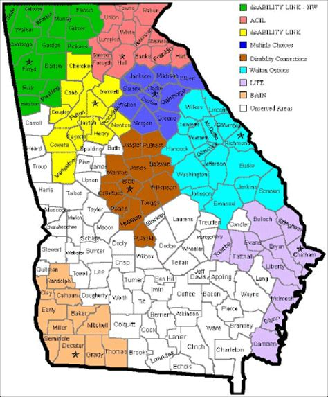 Georgia County Map Area | County Map Regional City