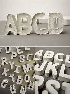With cement letter tray