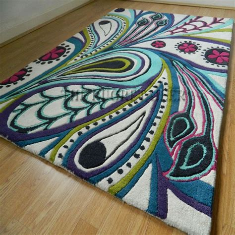 peacock rug remix peacock rugs  multi colour wool