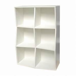 Etagere 6 Cases : etag re de bureau en bois pour rangement 6 cases livr mont ~ Teatrodelosmanantiales.com Idées de Décoration