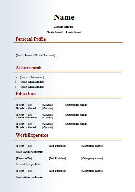 How To Write Curriculum Vitae Exles by Impressive Templates For Resume Search Resume