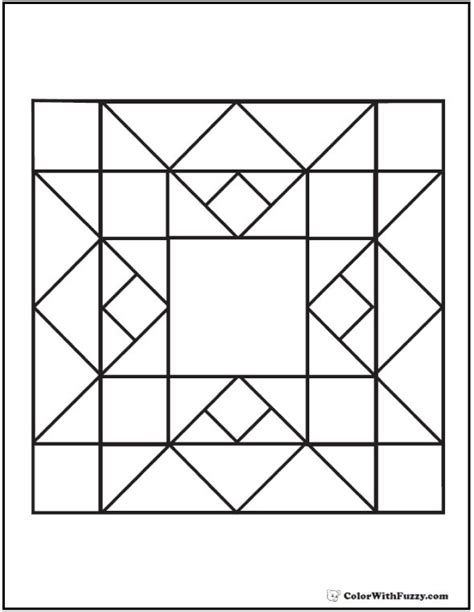 geometric coloring pages google search barn quilt