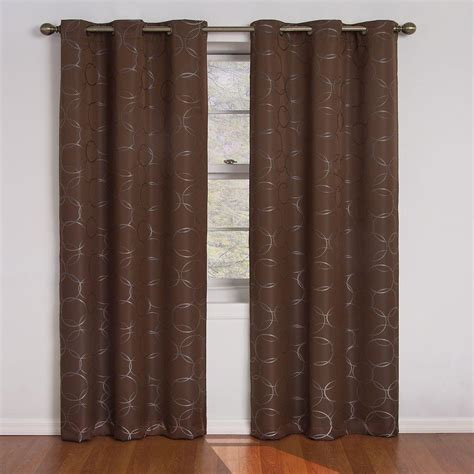 eclipse blackout drapes eclipse meridian blackout chocolate curtain panel 84 in