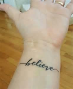 Awesome Tattoo Believe