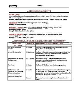 common core lesson plan  danielson framework