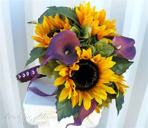 bride  bloom sunflower purple calla lily wedding