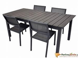 Table Jardin Composite : salon de jardin en aluminium et composite watson sur ~ Teatrodelosmanantiales.com Idées de Décoration