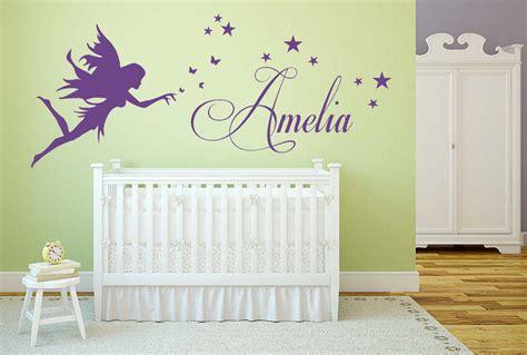 personalised  fairy vinyl wall art sticker stars