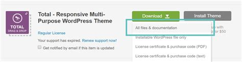 install  optimize  total wordpress theme