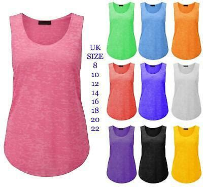 Raser Top 8 by Womens Burn Out Racer Vest Casual Neon