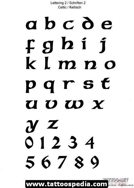 Celtic Font Tattoo images   Keltische schrift, Lettering