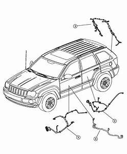 Jeep Grand Cherokee Wiring  Rear Door  Right Or Left  Liftgate
