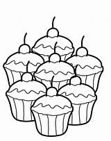 Coloring Muffin Popular sketch template