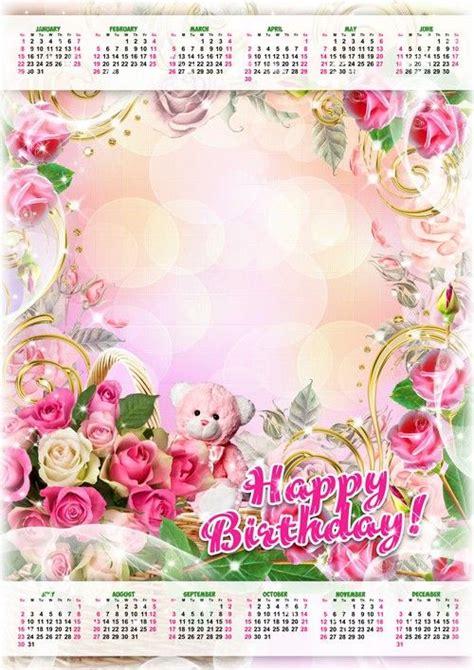 birthday calendar psd  happy birthday