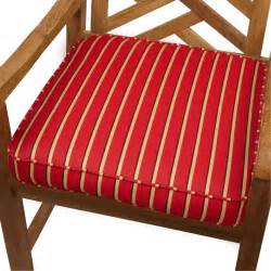 red gold stripe indoor outdoor 20 inch chair cushion