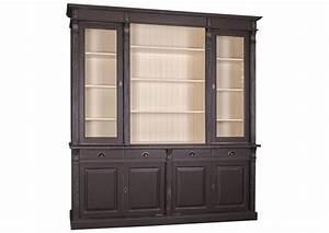 Vaisselier En Pin : acheter votre vaisselier en pin massif taupe 4 portes 4 tiroirs tag res chez simeuble ~ Teatrodelosmanantiales.com Idées de Décoration