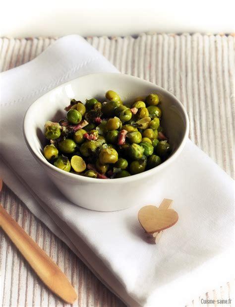 recette cuisine saine recette sans gluten ni lait petits pois aux lardons