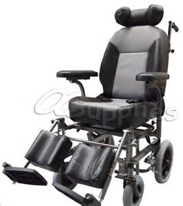 Reclining Wheelchair with Headrest