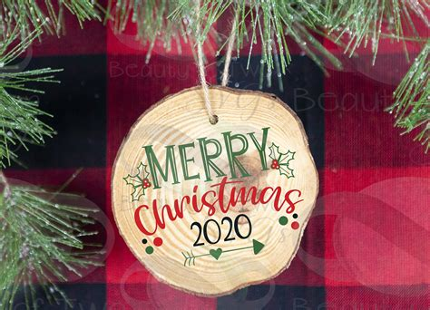 How to make a svg christmas ornament for free? Merry Christmas 2020 Ornament svg, Christmas svg, Ornament ...
