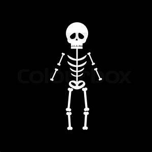 Skeleton Halloween On The Black