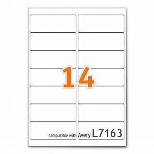 Avery l7163 laser printer labels 14 labels per page 99 for Avery 14 labels per sheet template