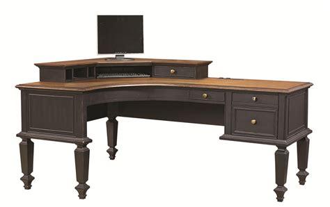 Aspen Home L Shaped Desk aspenhome ravenwood curved half pedestal l shaped desk and
