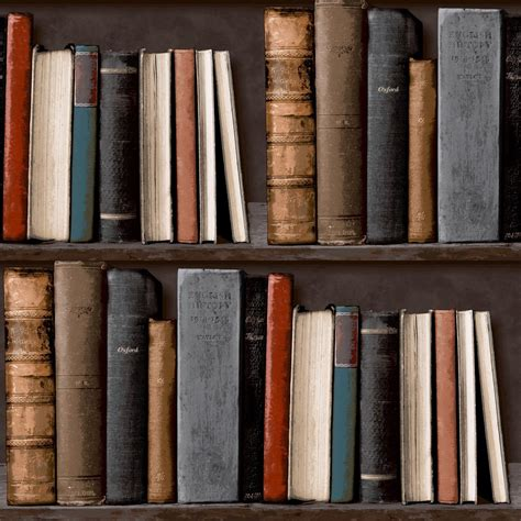 Wallpaper Bookcase Design by Library Bookcase Wallsorts