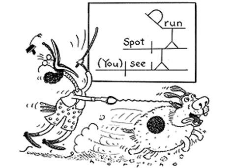 diagram  sentence  spot run