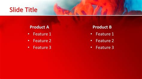 red background powerpoint template  powerpoint