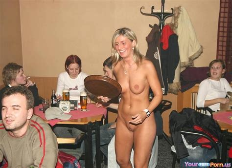Waitress Serving Her Customers Nude In A Bar Unashamed