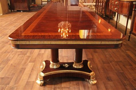 big dining room tables large high end mahogany dining table antique reproduction