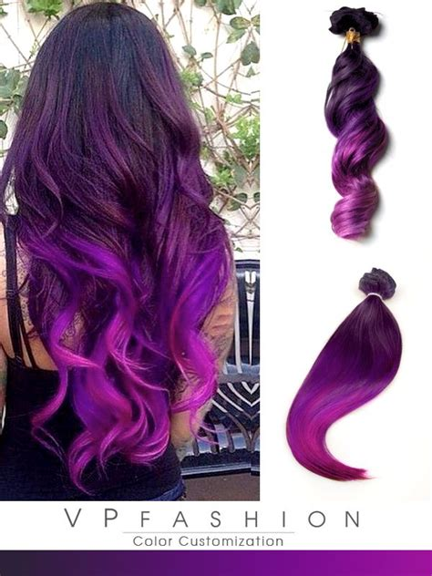 colorful ombre hair purple ombre mermaid colorful indian remy clip in hair