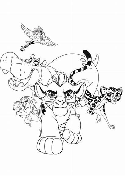 Lion Coloring King Pages Disney Cartoon