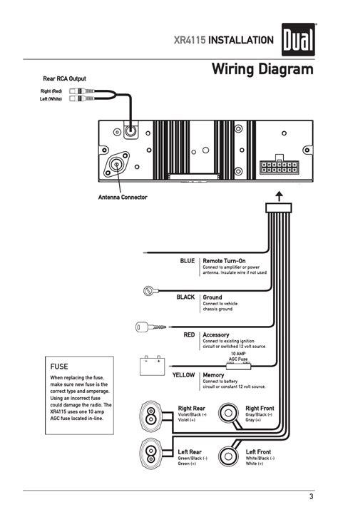 wiring diagram xr4115 installation dual xr4115 user