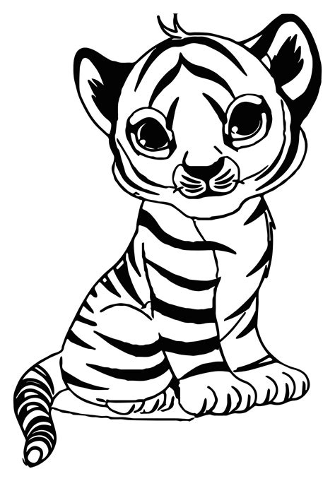tigers  print   tigers kids coloring pages