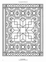 Coloring Quilt Pages Patchwork Traditional Books Designs Dover Adult Patterns Amazon Sheets Zentangle Patronen Activiteiten sketch template