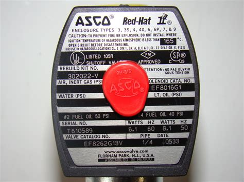 asco red hat solenoid valve mp   efgv ebay