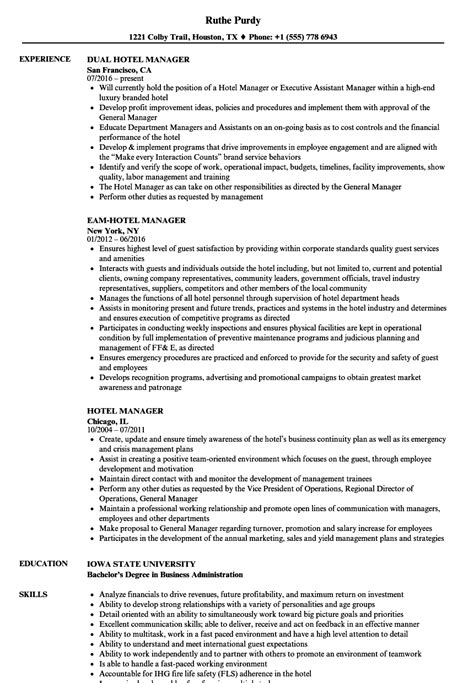 Hotel Industry Hotel Management Resume Format Pdf - Best Resume Examples