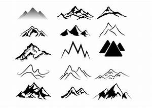 Black & White Abstract Mountains Pack - Vector download