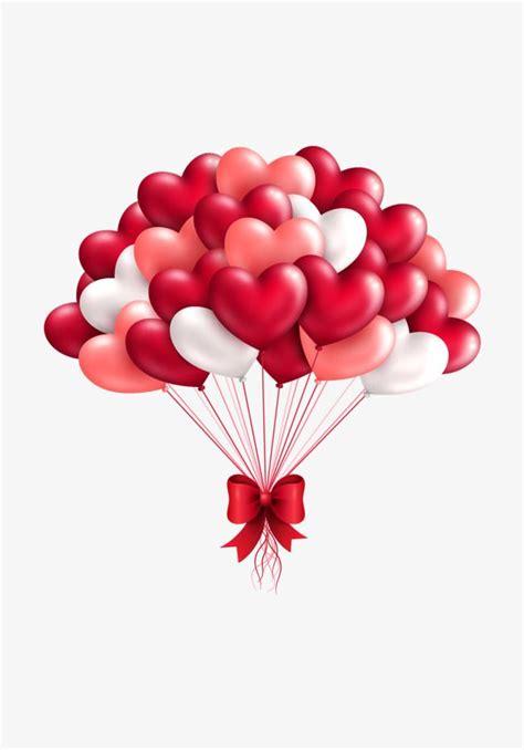 vector red love balloons wedding romantic happy png