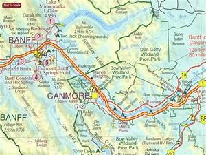 Canadian Rockies - Banff - Jasper - Yoho Gem Trek Map