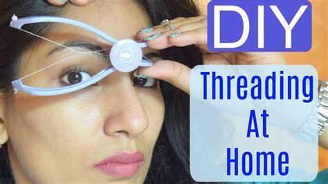 Diy Facial Hair Threading At Home  Slique Hair Threading System Review+demo Youtube