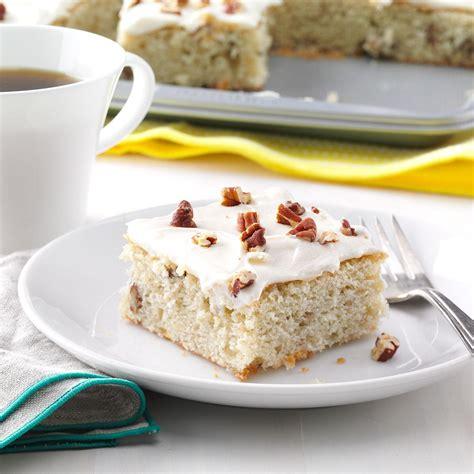 banana pecan sheet cake recipe taste of home