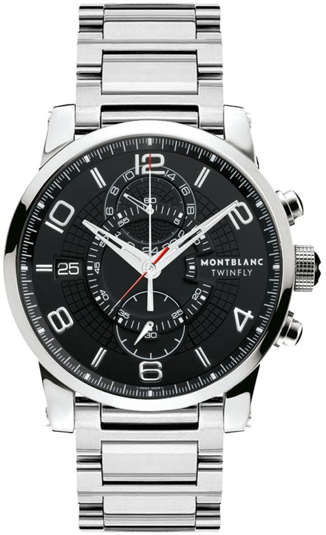 104286 MontBlanc Timewalker Twinfly Chronograph Mens Watches.