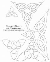 Celtic Patterns Triangle Embroidery Knot Pages Designs Coloring Viking Symbols Knots Pattern Paste Eat Printable Cross Dragon Them Knotwork Don sketch template