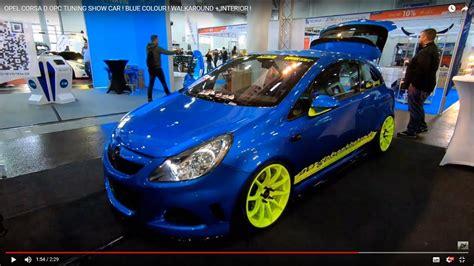 opel corsa  opc tuning show car blue colour