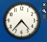 afficher un gadget horloge sur le bureau de windows 7
