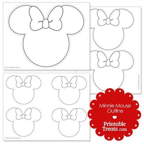Free Printable Minnie Mouse Bow Template by Printable Minnie Mouse Outline Style Mice