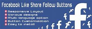 Facebook Like Share Follow Buttons